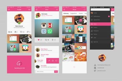 Dribbble-App-Concept