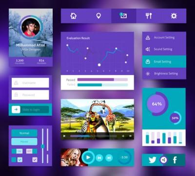 Purple-UI-Kit